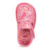 Różowe wzorzyste kapcie dziecięce za kostkę bata, różowy, 179-5212 - 17