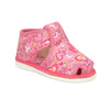Różowe wzorzyste kapcie dziecięce za kostkę bata, różowy, 179-5212 - 13