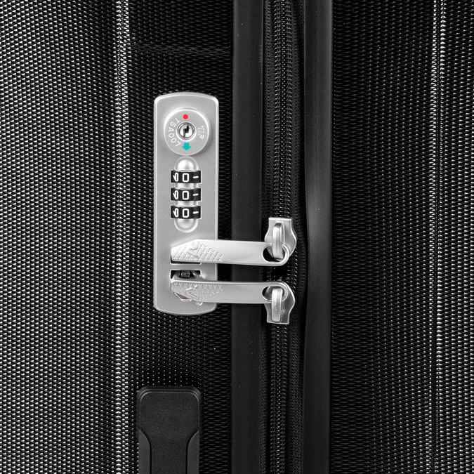 Średnia twarda walizka czarna roncato, czarny, 960-6736 - 15