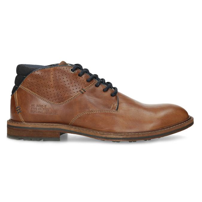 Brązowe skórzane obuwie męskie za kostkę bata, brązowy, 826-3505 - 19