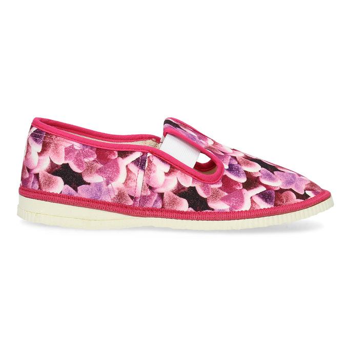 Różowe wzorzyste kapcie dziecięce bata, różowy, 379-9123 - 19