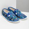 Niebieskie wzorzyste kapcie dziecięce bata, niebieski, 379-9125 - 26