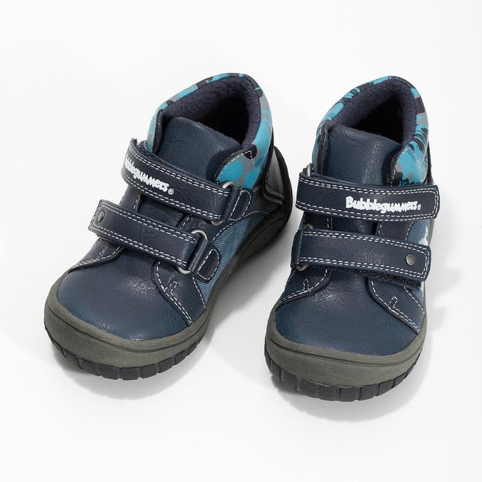 Niebieskie botki dziecięce na rzepy, niebieski, 111-9628 - 16