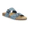 Niebieskie korkowe klapki damskie bata, niebieski, 579-9625 - 13