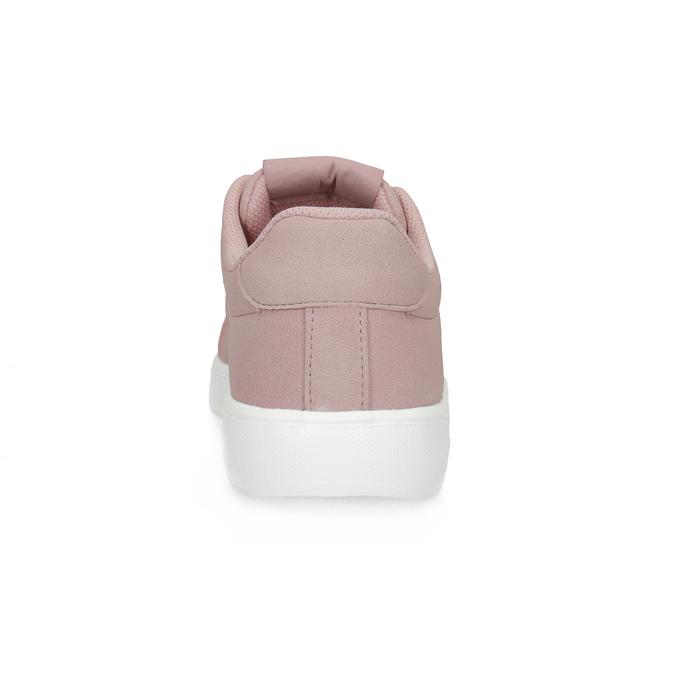 Różowe trampki damskie zsatynowymi sznurówkami power, różowy, 501-5169 - 15