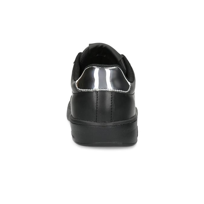 Czarne trampki damskie ze srebrnymi detalami power, czarny, 501-6168 - 15