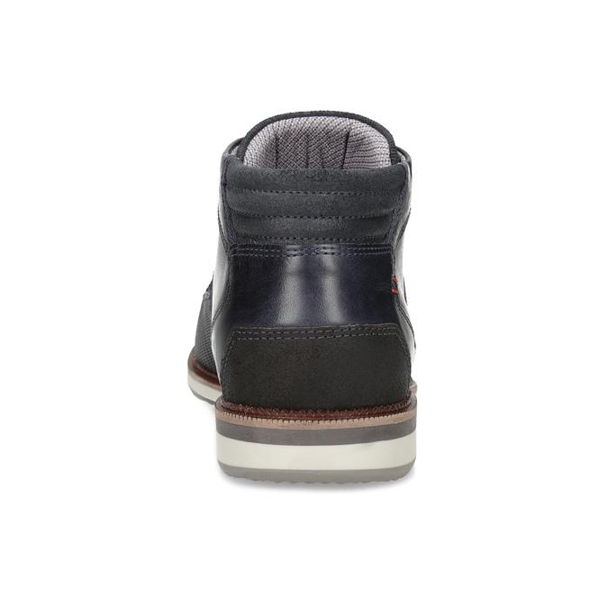 Granatowe skórzane obuwie męskie za kostkę bata, niebieski, 826-9912 - 15