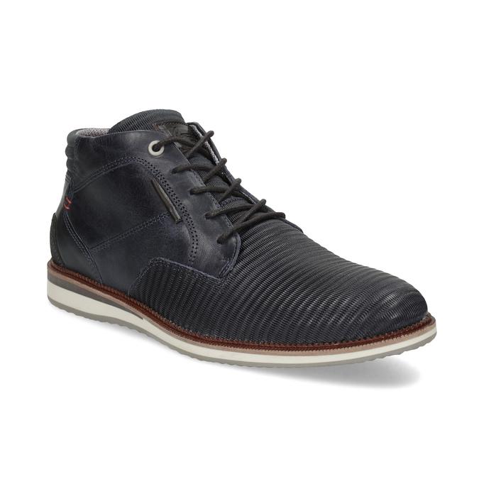 Granatowe skórzane obuwie męskie za kostkę bata, niebieski, 826-9912 - 13
