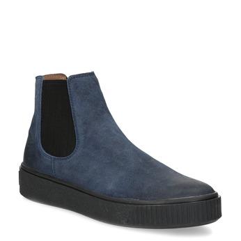 Granatowe skórzane obuwie damskie typu chelsea bata, niebieski, 596-9713 - 13