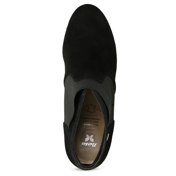 Czarne botki na szpilkach bata, czarny, 799-6624 - 17