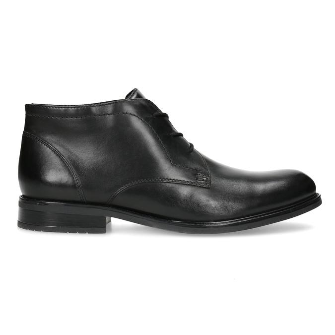 Skórzane obuwie męskie za kostkę bata, czarny, 824-6893 - 19