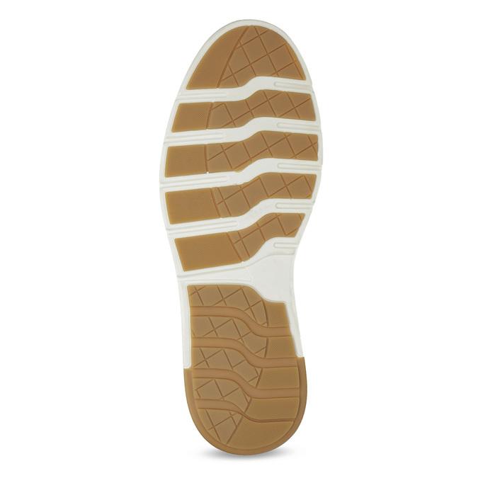 Brązowe skórzane obuwie męskie za kostkę bata, brązowy, 846-3645 - 18