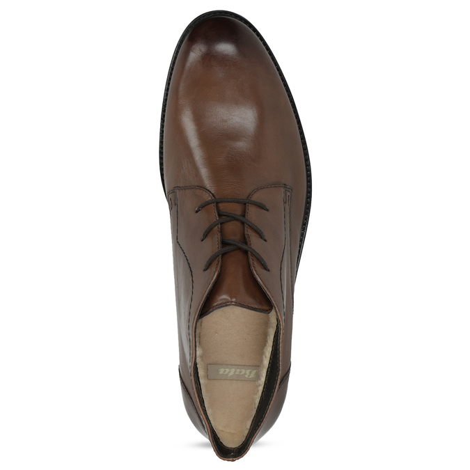 Skórzane obuwie męskie za kostkę bata, brązowy, 826-3893 - 17