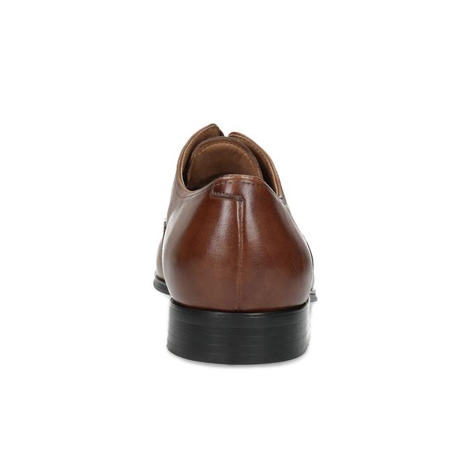 Brązowe skórzane półbuty męskie bata, brązowy, 826-3406 - 15