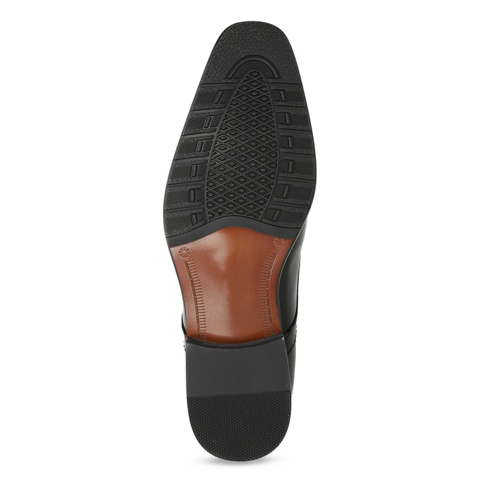 Skórzane półbuty męskie typu angielki, zprzeszyciami bata, czarny, 824-6633 - 18