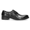 Męskie buty typu Monk z czarnej skóry bata, czarny, 824-6632 - 19