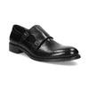 Męskie buty typu Monk z czarnej skóry bata, czarny, 824-6632 - 13