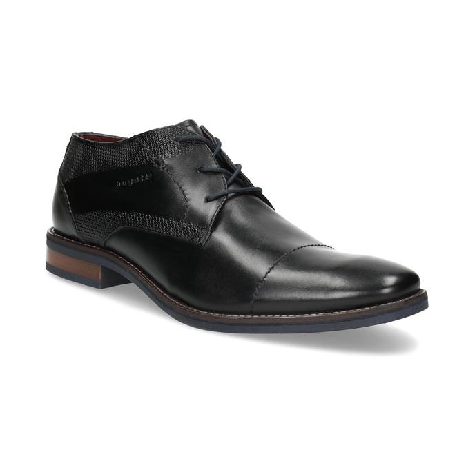 Czarne skórzane półbuty bugatti, czarny, 826-6052 - 13