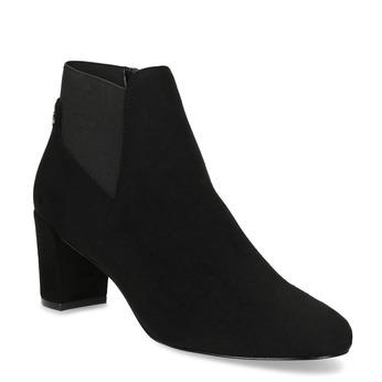 Czarne botki damskie na obcasach bata, czarny, 799-6625 - 13