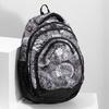 Czarno-biały plecak szkolny bagmaster, szary, 969-2719 - 17