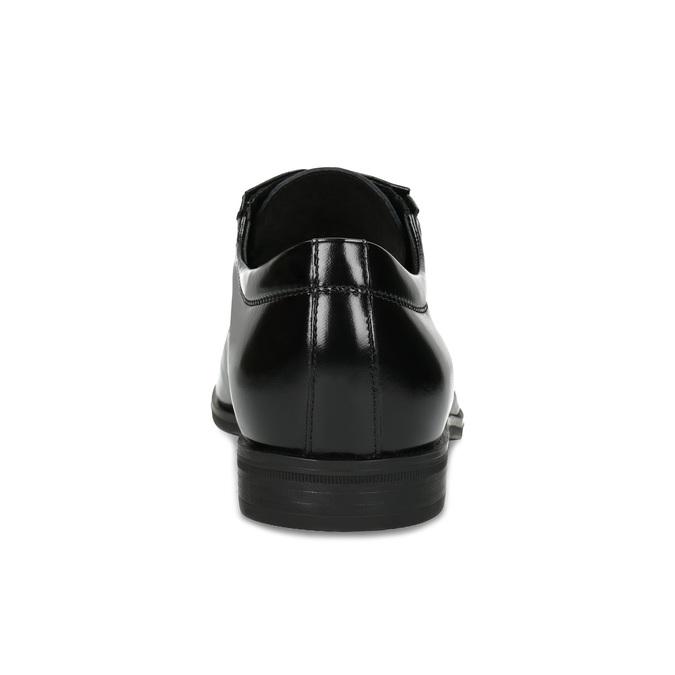 Czarne skórzane półbuty typu angielki conhpol, czarny, 824-6635 - 15