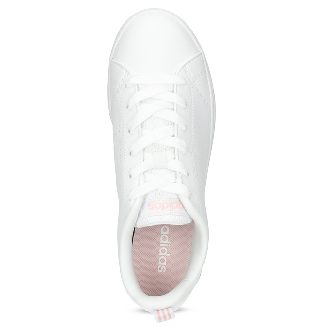 Białe trampki damskie zperforacją adidas, biały, 501-1800 - 17