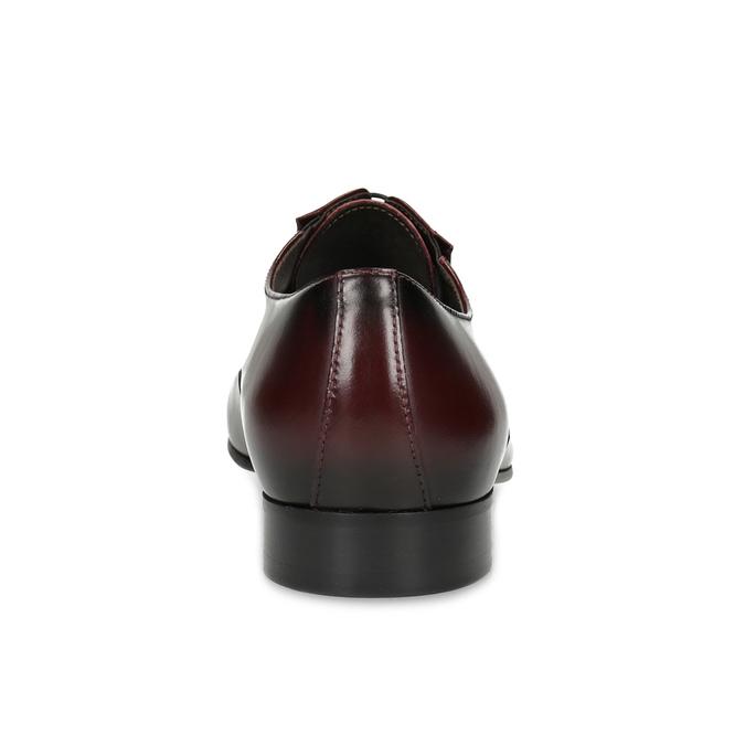 Bordowe półbuty męskie typu oksfordy conhpol, czerwony, 826-5508 - 15