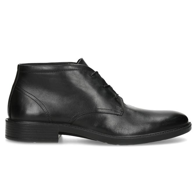 Czarne buty męskie za kostkę zgładkiej skóry comfit, czarny, 824-6822 - 19