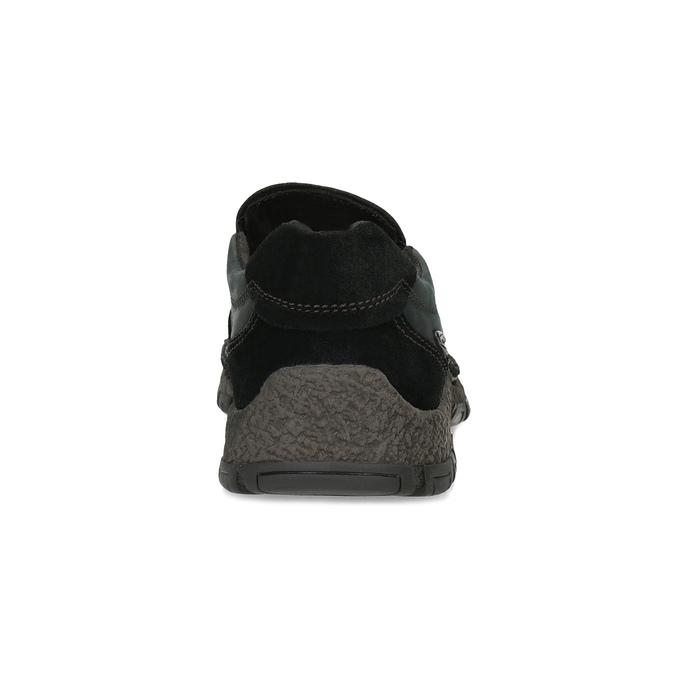 Skórzane obuwie męskie typu slip-on zprzeszyciami camel-active, czarny, 816-6011 - 15