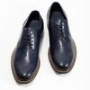 Granatowe skórzane półbuty typu angielki bata, niebieski, 826-9787 - 16