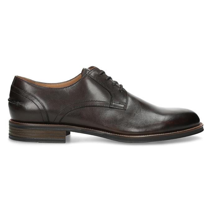 Brązowe skórzane półbuty typu angielki bata, brązowy, 826-4787 - 19