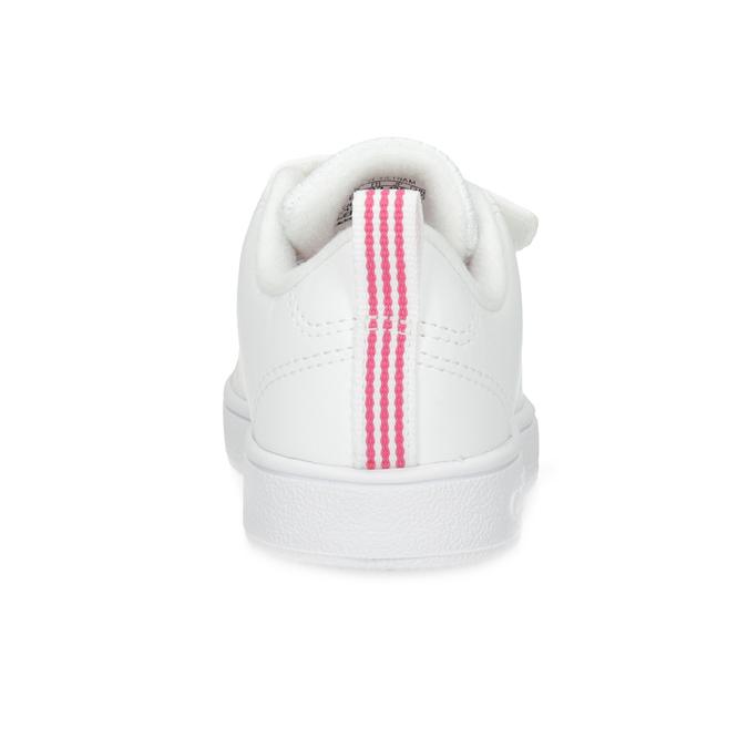 Białe trampki dziecięce zperforacją I zapięciami na rzepy adidas, biały, 101-5133 - 15