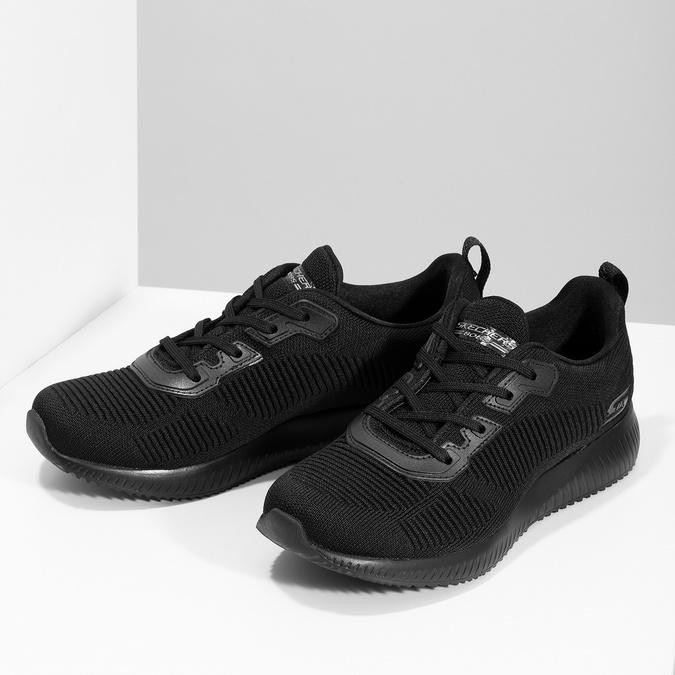 Czarne nieformalne trampki damskie skechers, czarny, 509-6146 - 16