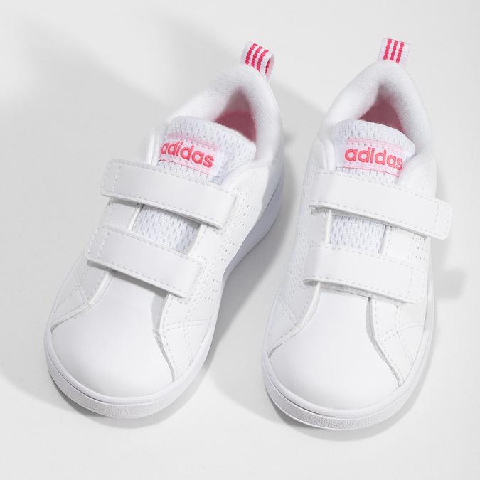 Białe trampki dziecięce zperforacją I zapięciami na rzepy adidas, biały, 101-5133 - 16