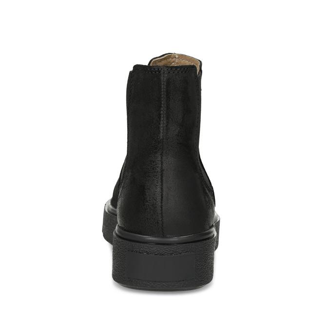 Skórzane botki damskie typu chelsea bata, czarny, 596-6713 - 15