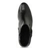 Czarne skórzane botki zkokardą gabor, czarny, 614-6005 - 17