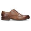 Brązowe skórzane półbuty typu angielki bata, brązowy, 826-3786 - 19