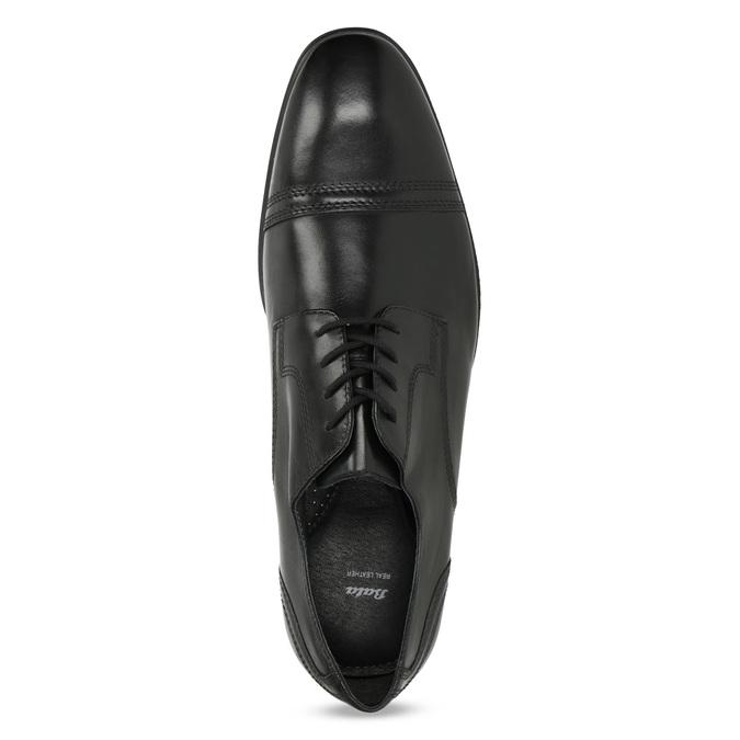 Czarne skórzane półbuty męskie typu angielki bata, czarny, 824-6891 - 17
