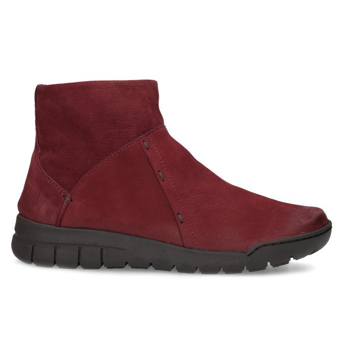 Czerwone skórzane botki bata, czerwony, 596-5706 - 19