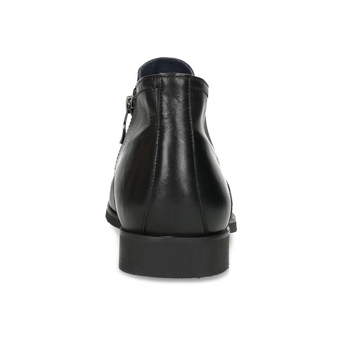 Skórzane obuwie męskie za kostkę, zprzeszyciami bata, czarny, 824-6621 - 15