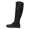 Czarne kozaki damskie zgrubymi zamkami błyskawicznymi bata, czarny, 691-6636 - 17