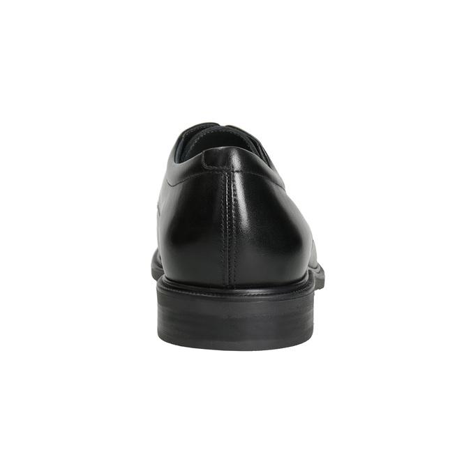 Skórzane półbuty męskie ze ściętymi noskami climatec, czarny, 824-6660 - 15