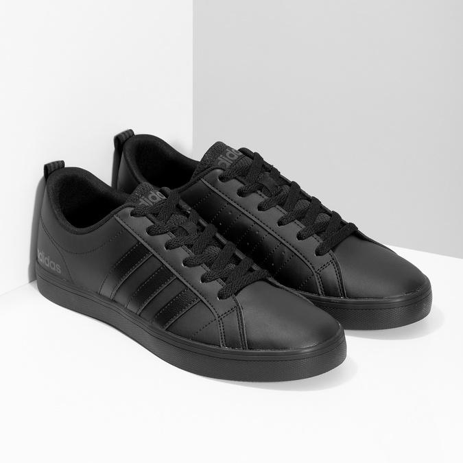 Czarne trampki męskie na płaskiej podeszwie adidas, czarny, 801-6236 - 26