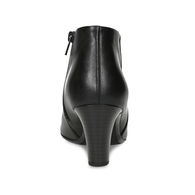 Czarne botki damskie na obcasach gabor, czarny, 714-6013 - 15