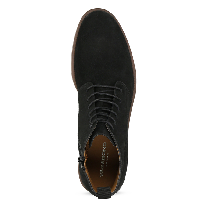Czarno-brązowe skórzane obuwie męskie za kostkę vagabond, czarny, 826-6153 - 17