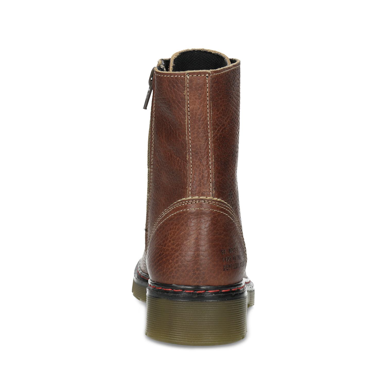 5e57486e0e7b8 ... Brązowe skórzane botki damskie bata, brązowy, 596-4732 - 15 ...