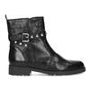 Czarne skórzane kozaki zmetalowymi ćwiekami bata, czarny, 594-6671 - 19