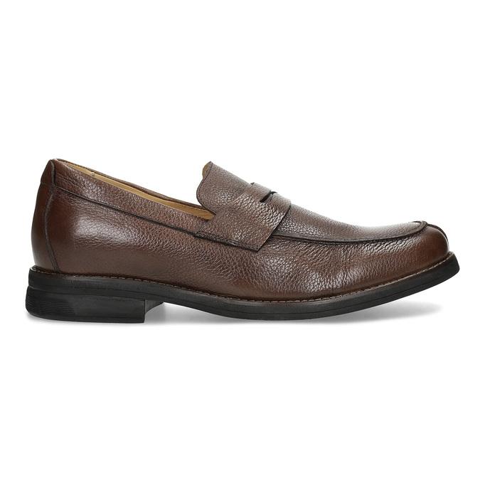 Brązowe skórzane mokasyny wstylu penny loafers comfit, brązowy, 814-3627 - 19