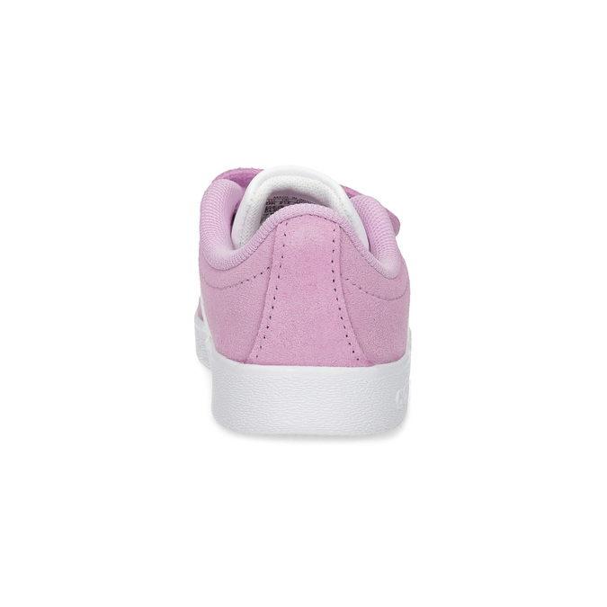 Różowe skórzane trampki dziecięce adidas, różowy, 103-5203 - 15