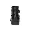 Skórzane botki zmetalowymi ćwiekami bata, czarny, 594-6668 - 15